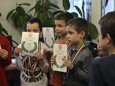 Géniusz Kupa 3. forduló a Bajnok Sakkiskola nyertesei az U8-asok között
